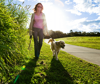 7 Benefits of Building in a New Community Walking Dog image