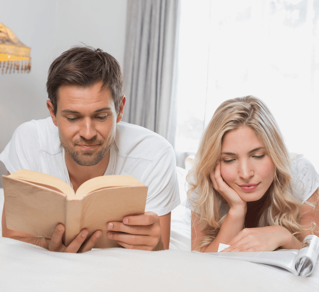 8 Tips for Creating a Glorious Guest Room Couple Reading Image