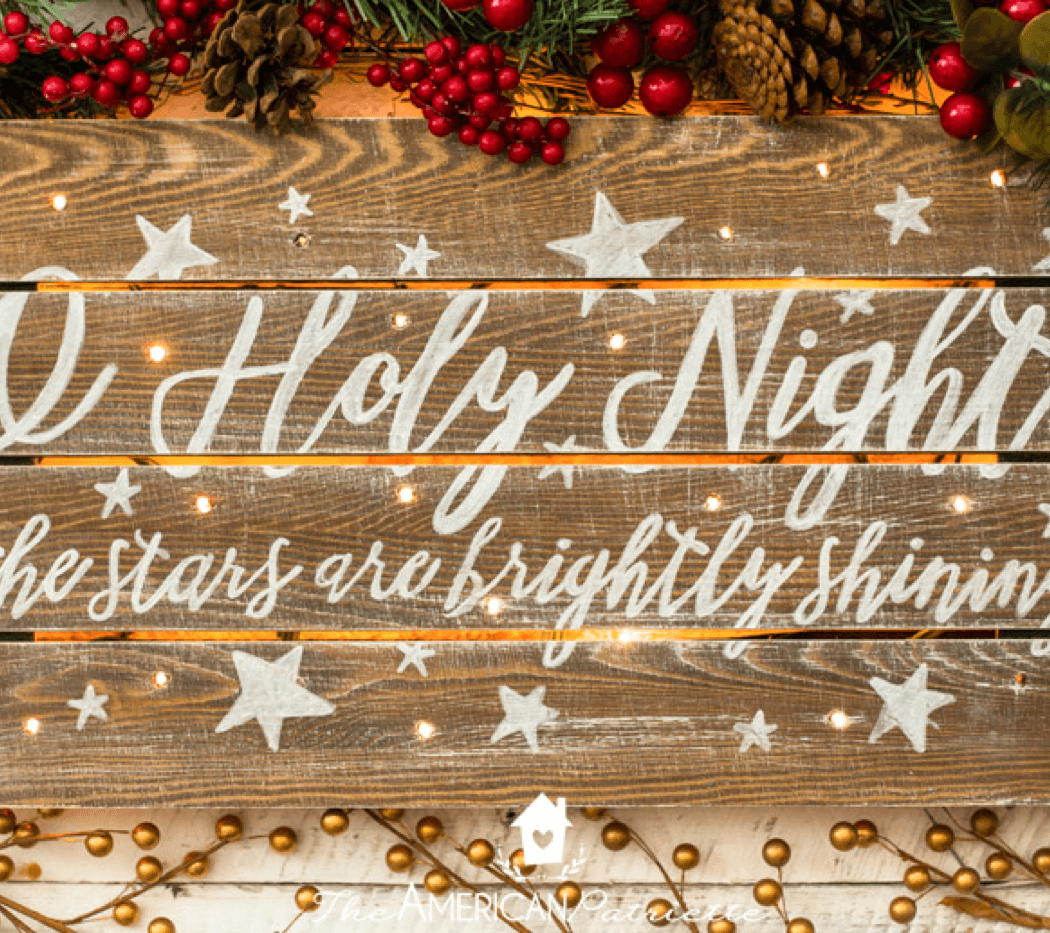 High-End DIY Christmas Decor Ideas Rustic Christmas Sign Image