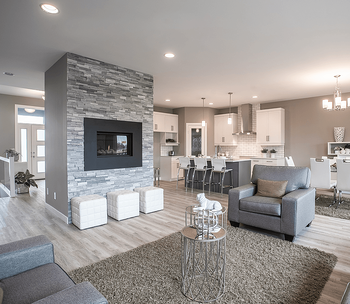 Home Model Feature: The Ashton Staged Living Area Image
