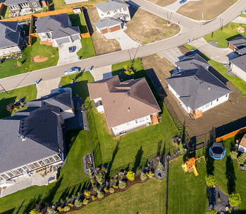 How to Choose the Right Lot for Your New Home Arial View Image