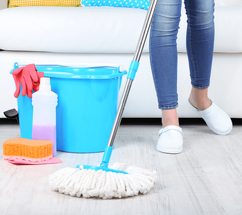 15 Minutes a Day = An Impeccably Clean Home Mopping Image